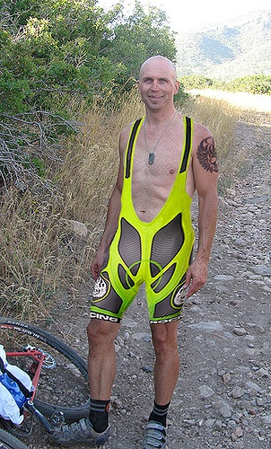 Clay gave Kenny a nice new pair of bibshorts and a Rock Racing tattoo.