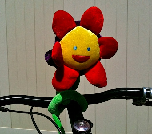 novelty daisy toy affixed to my handlebars.