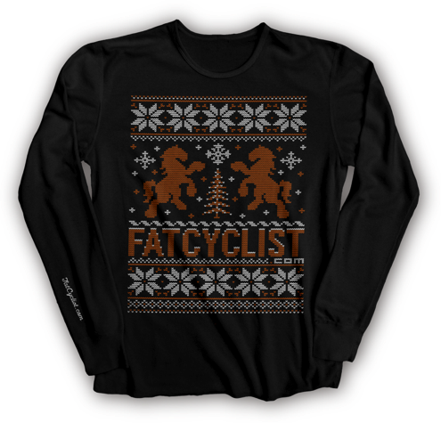 FatCyclist.com Holiday Long-Sleeve T