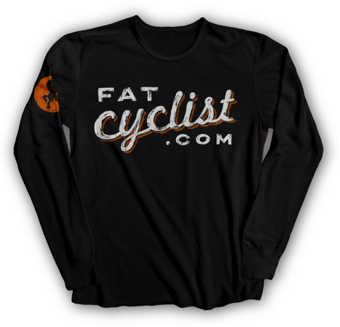 FatCyclist.com Painted Logo Long-Sleeve T