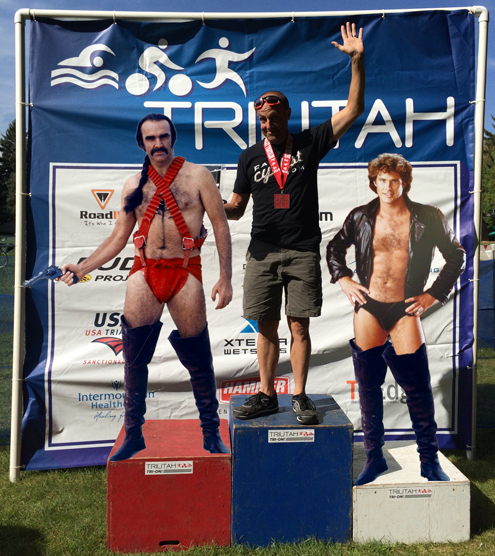 USTC triathlon podium