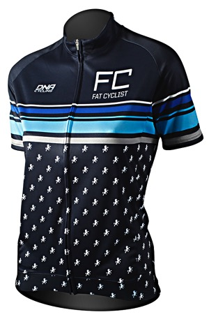 Fat Cyclist Blue Wns Jersey