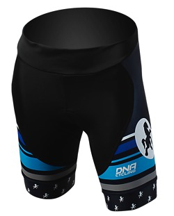 Fat Cyclist Blue Wns Race Shorts front